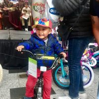 Child and bicycle Day of Kings 2019