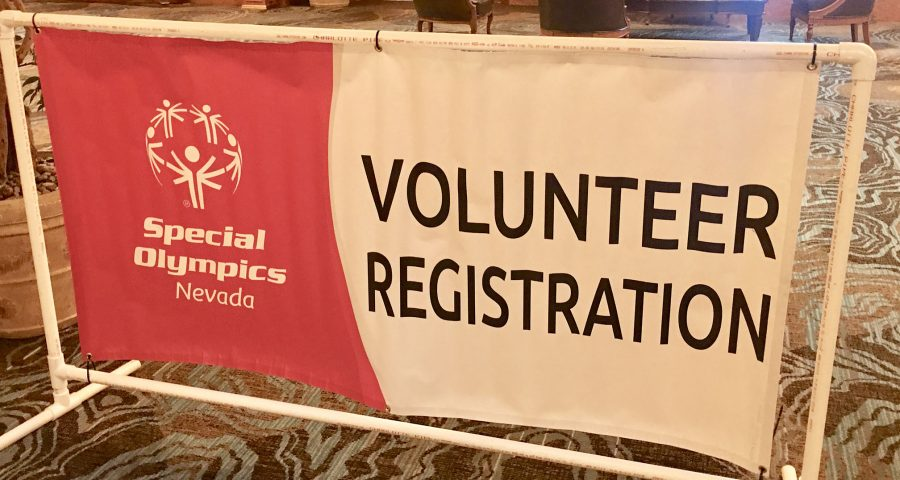 Special Olympics Volunteer Registration sign