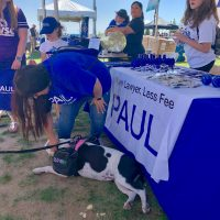 Paul Powell merchandise and dog