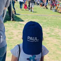 Child with Paul Powell hat